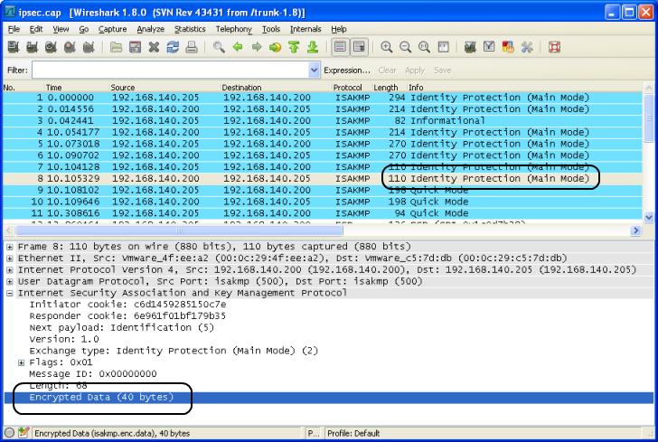 IKEv1 main mode - no decryption